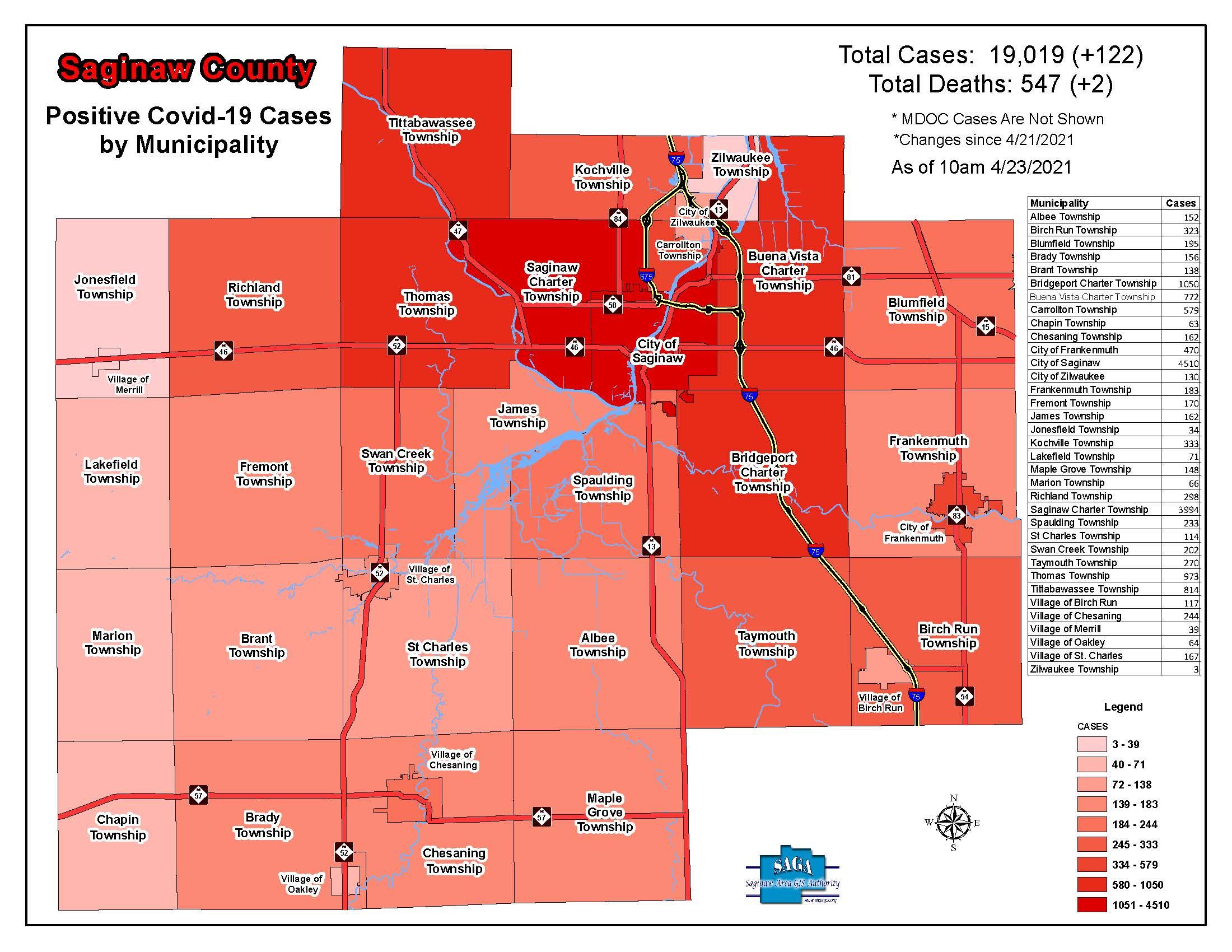 Saginaw County Covid Cases